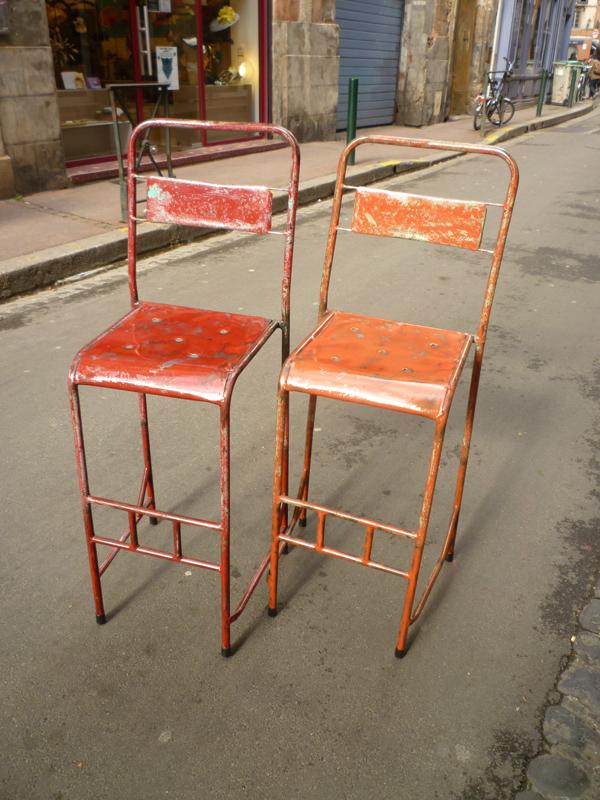 Chaise vintage en métal