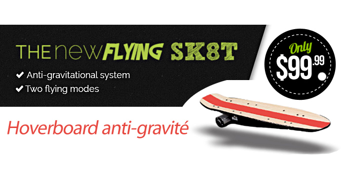 hoverboard anti-gravité